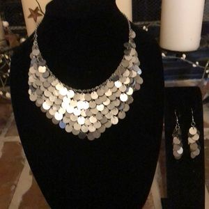 Jewelry - Statement necklace and earrings set.